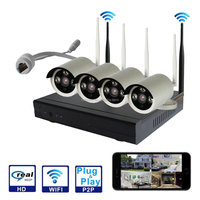 4Ch 720P HD Wireless waterproof camera Video Security nvr System