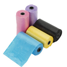 Factory price LDPE fold rubbish colored drawstring trash garbage bag on roll
