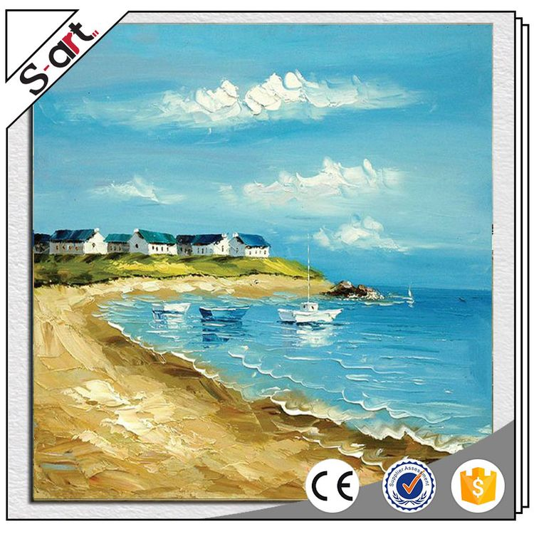 Professional new coming seaside landscape oil paint