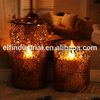 Remote control mosaic led candle luxury home reflections flameless decorative electric candle
