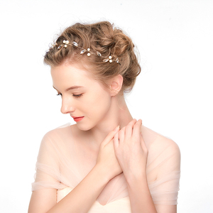 Wholesale headbands handmade wedding hair band accessory gold bridal hair accessories for women