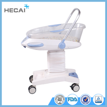 LS-4YC CE approved hospital infant bed baby crib baby cart with wheels