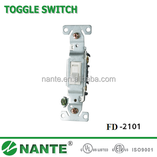 American Type Wall Socket Toggle Switch with UL Approval FD-2101, FD2102, FD2103