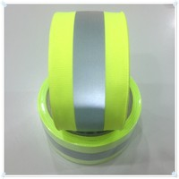 Safety decorative Reflective fabric tape, clothing material for sewing, backing with High bond tape sew on bag, gloves, vest