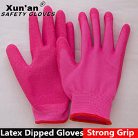 NEW Kids Youth Latex Coated Work Gloves