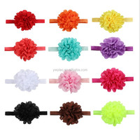Charming fabric baby flower headband Infant Girls Flower Hairband 7 color flower headband