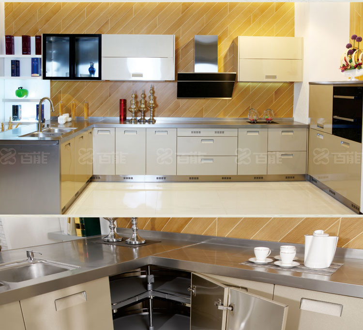 New arrival 304 stainless steel kitchen cabinet with good for Stainless steel kitchen cabinet price