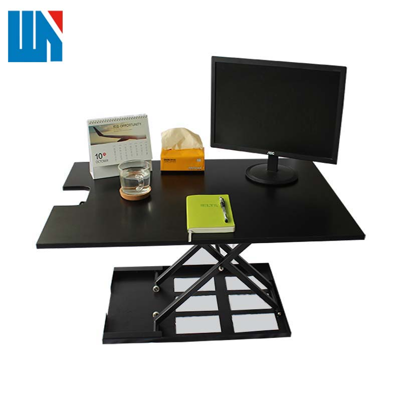Top quality best selling customized grey desktop electric lift work table