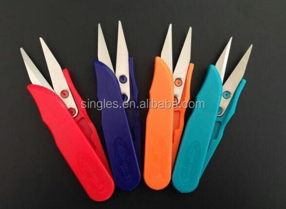 High quality Color plastic handle small yarn shear TC-100 Cross stitch scissors Plastic scissors