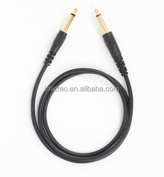 1.5M Gold plated TS Mono 6.5MM 6.35MM Male to Male cable for guitar,audio mixer using