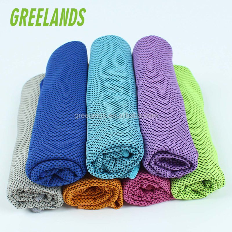 Chill Pad Cool Ice Fitness Pilates Ballet Yoga Towel , Instant Relief Cooling Towel for Sports Camping , Easy Take Travel Towels