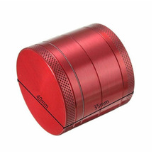 4 Layers 40mm Metal & Plastic Poker Chips Tobacco Grinders Hand Crusher Red/ Green/Black Herb Herbal Grinder Smoking Gadget