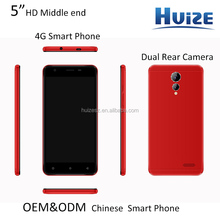 "5"" China OEM Quad-core 4G dual rear camera smart phone M9"