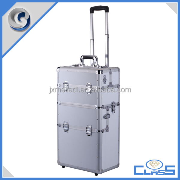 Famous Brand Hairdresser Trolley Case Beauty Case Wheeled Cosmetics MLD-AC2581