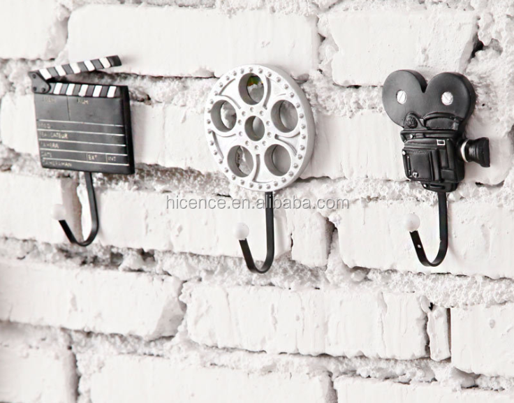 Modern creative and fashionable wood Piano style Hook for decorative wall