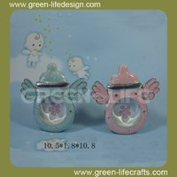 Creative milk bottle ceramic baby photo frames