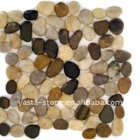 Polished Pebble Stone Pebble Tile Wall