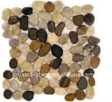 Polished Pebble Stone, Pebble Tile, Wall Finished