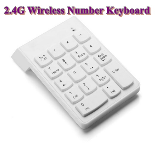 18 Keys Numeric Keypad Wireless 2.4G Mini Digital Number Keyboard