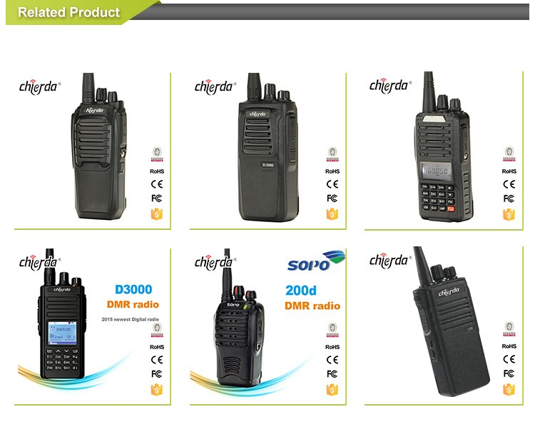 Color LED display handheld battery save full-duplex walkie talkie