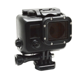 Private mould Cool Dark gopros Waterproof Housing for GoPros 4 /3+/3 with Bracket