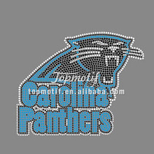 Panthers rhinestone heat transfers, custom iron on team logo design