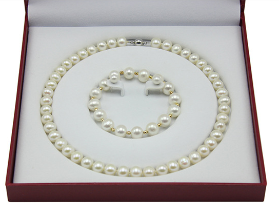 Gemsnorm classic bridal wedding accessories new model pearls jewelry necklace set
