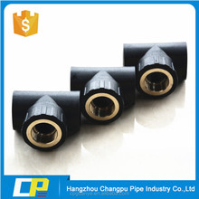 China manufacturer hdpe black pipe fittings chart