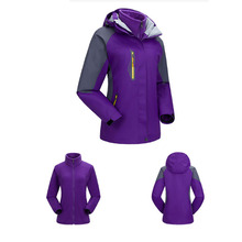Korean Women Clothes Detachable Hood Mountaineering Clothes Windproof Sports Jackets