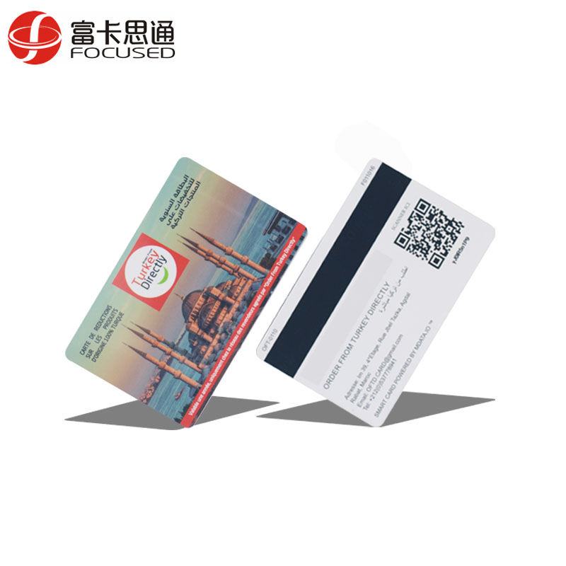 Information Writable Hot-sale Hole Punched NFC Techonology QR-Code Card