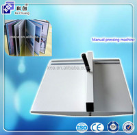 High quality manual book press creasing machine