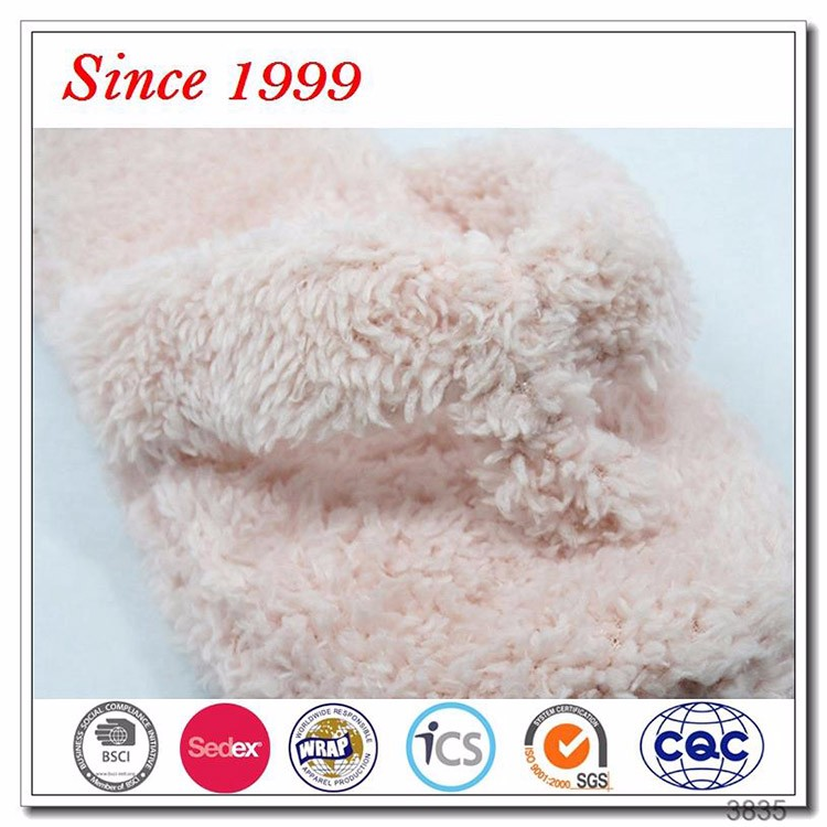 Velvet Plush Flip Flop Slipper Women Bedroom Slipper Factory (XJHL20)