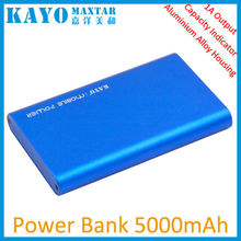 LED capacity indicators slim portable mobile power bank 5000mAh