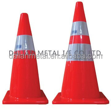 good price 100% new material PVC reflective traffic cone for sale