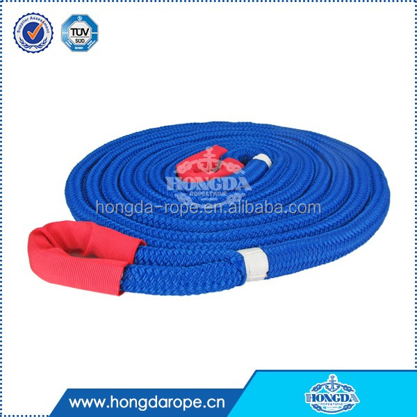 high tenacity and strength 12mm 16-strand double braided polyester tow rope for car/truck