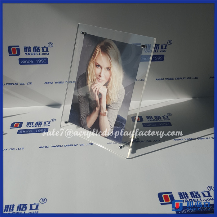 Wholesale YAGELI-PFA4001 Transparent clear a4 acrylic frame hot sexy girl photo or photo picture frame