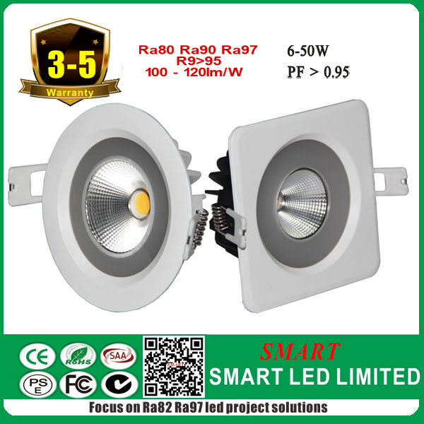 High lumen with High CRI IP65 Waterproof led 10w cob <strong>downlight</strong> All certs listed