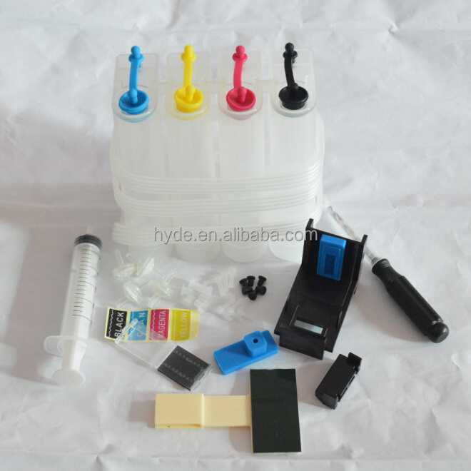 4 Color Universal Continuous Ink Supply System DIY Tools for Canon HP CISS With Drill and Suction Tool and All Accessories