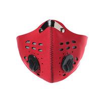 Premium quality custom printing neoprene carbon filter motorcycle half face mask