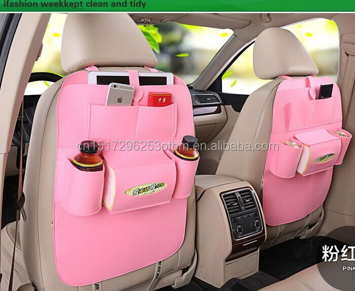 new fashion style seat back felt hanging storage bag carriage bag car back front seat organizer