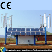 3kw wind & solar hybrid system Vertical axis wind turbine small generators for home use