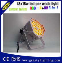 Direct factory price stage light equipment rgbwa uv 6in1 18x18w par disco lighting