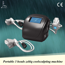 Portable home use 3 heads cryolipolysis cool shaping machine