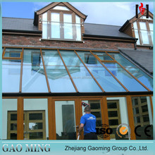 GM Customized special style roof glass triple insulated skylight window