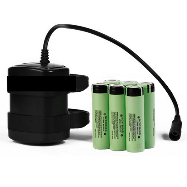 8.4V 4800mAh 18650 Battery Waterproof ABS Rechargeable Bicycle Light Battery