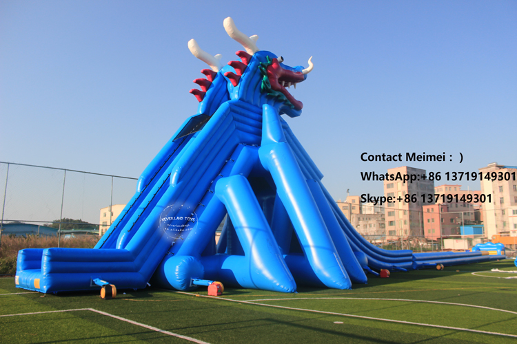 2019 30 ft Tall Chinese Dragon Slip n Slide Inflatable Water Slide For Sale