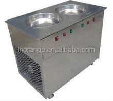 Fried Ice Cream Roll Machine|Yogurt Frying Machine|Round Pan Ice Cream Frying Machine008615939556928