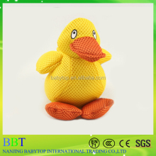 2016 new polyester mesh material yellow duck bath toy organizer