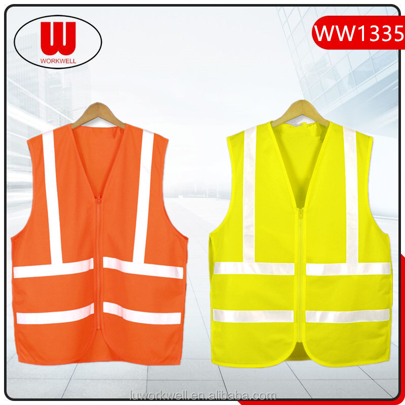 With zipper work uniform vest wholesale
