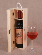 Single Bottle Wine Box Carrier Crate Case Best Gift box